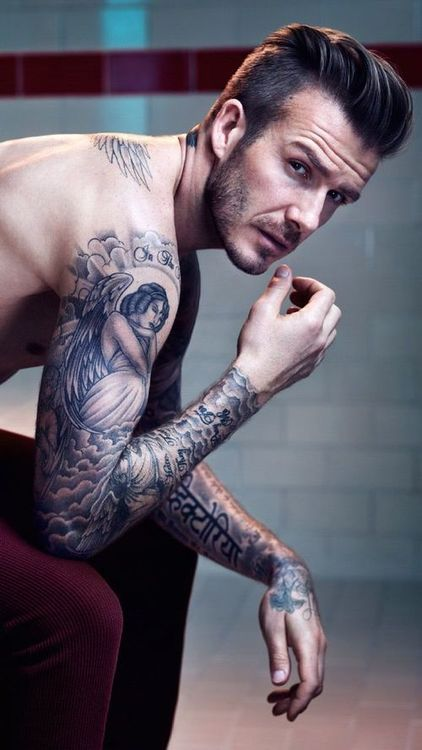 David Beckham Sleeve Tattoo