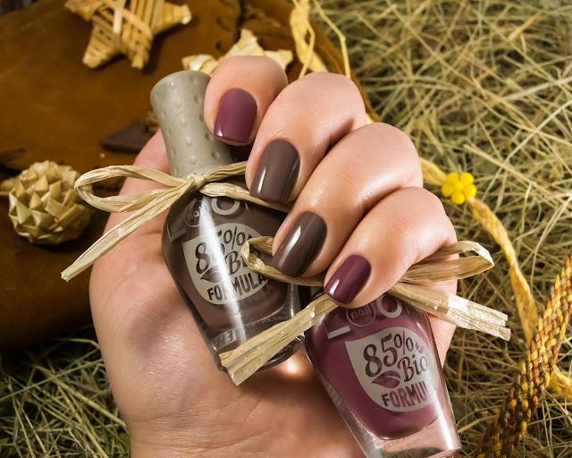Old chestnut Dusty cedar naillook bio polish