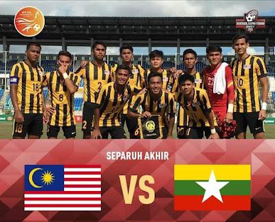 Live Streaming Malaysia vs Myanmar Separuh Akhir B-18 AFF 15 September 2017