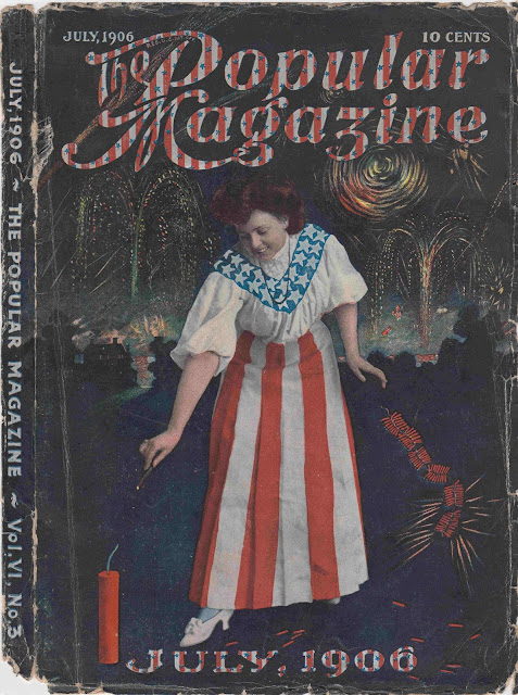 The Popular Magazine, July 1906 cover commemorating the 240th Anniversary of the American Declaration of Independence