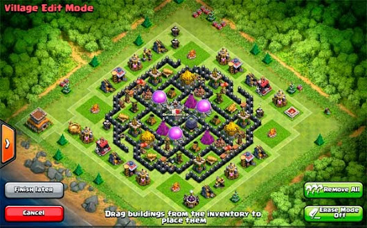 Farming Base Clash of Clans TH 8  - Design Base Clash Of Clans Terbaik
