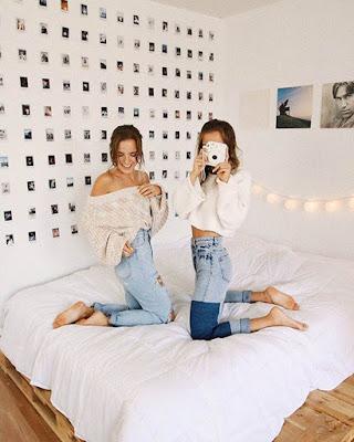 decoracion de recamara con fotos chiquitas