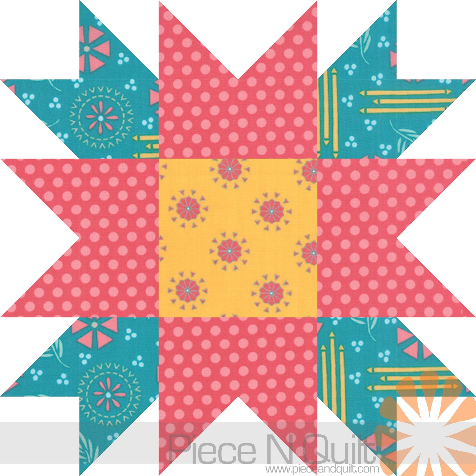 Flower Star Quilt Pattern - The Battle Against Breast Cancer | Piece ...