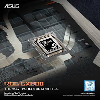 ROG GX800 mengadopsi teknologi kartu grafis terkini dengan dual kartu grafis GeForce GTX1080 SLI
