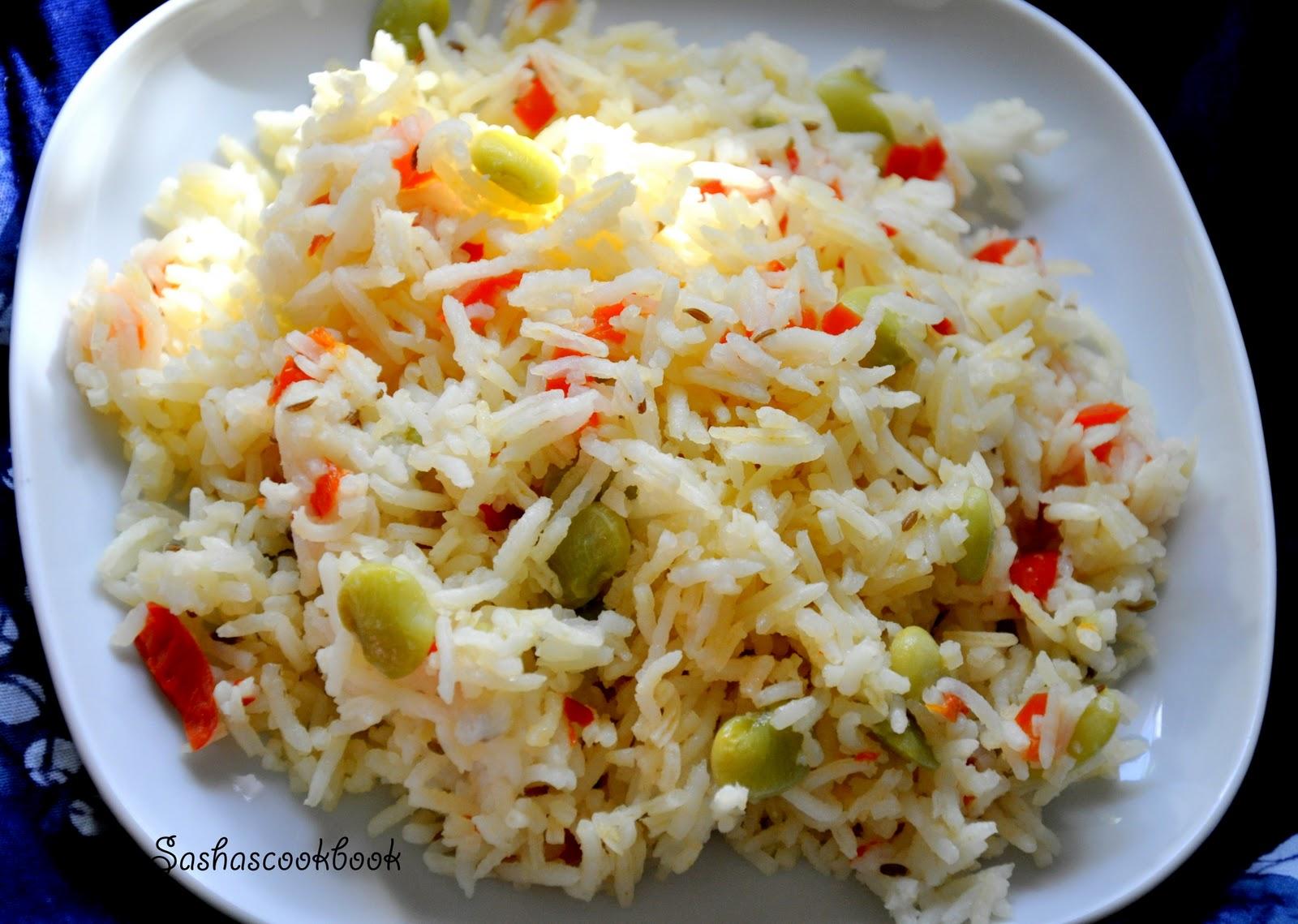 Sasha S Cookbook Cumin Spiced Lima Beans Rice