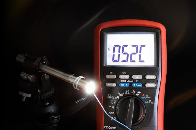 Maksymalna temperatura zmierzona na głowicy latarki Lumintop IYP365
