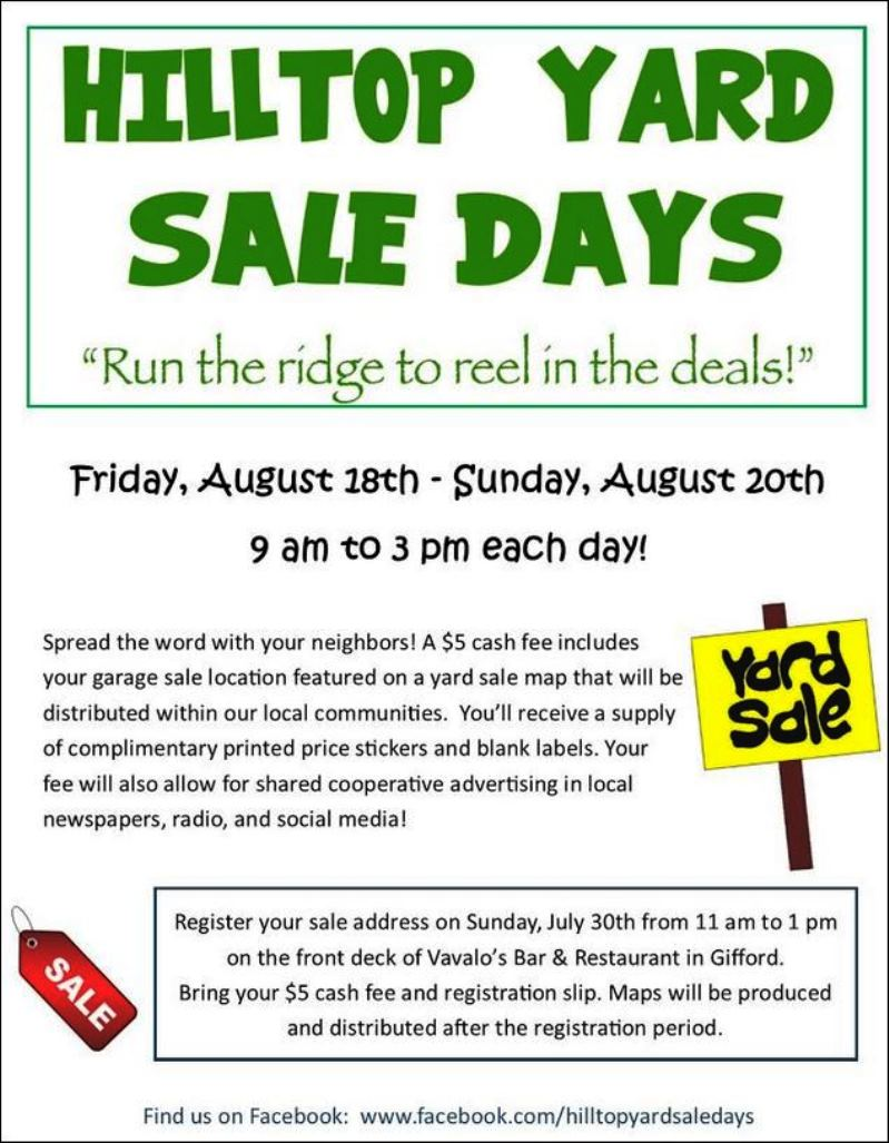 www.facebook.com/hilltopyardsaledays