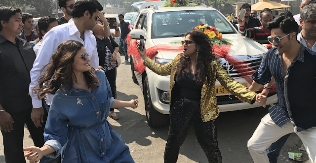 Alia Bhatt, Varun Dhawan and RJ Malishka Dance to Tamma Tamma