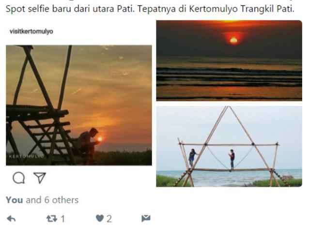 Wah... Ada Spot Selfie Baru Nih di Desa Kertomulyo Trangkil, Yuk Mari....