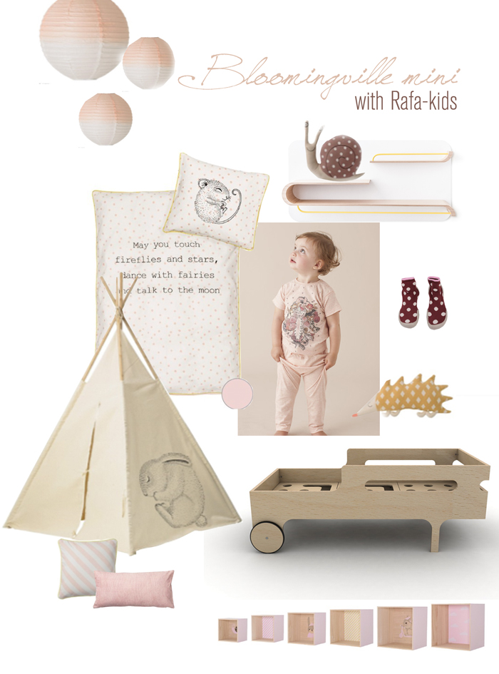 MINI Bloomingville & Rafa-kids moodbord for toddlers