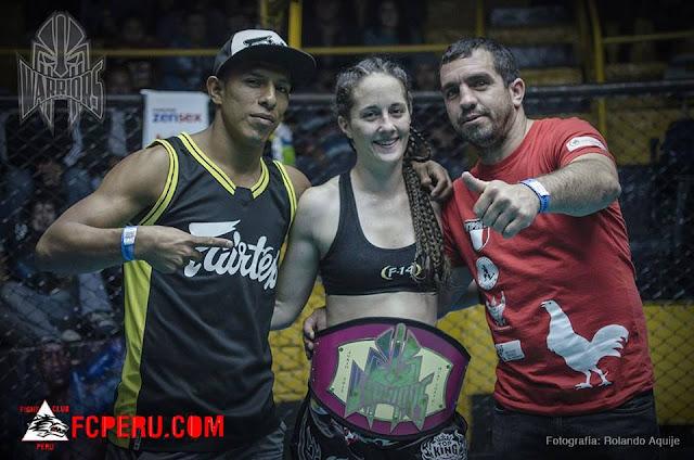 Luna Tobin Peru Muay thai WMC F 14 gym Rodrigo Joquera