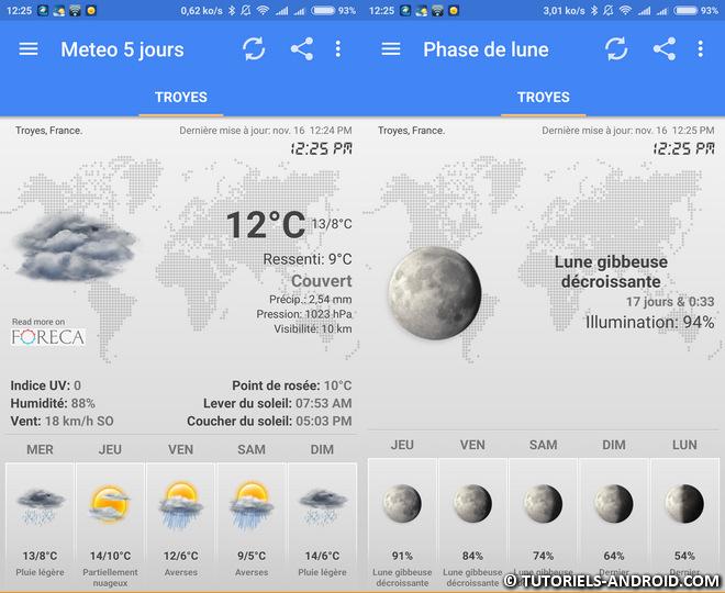 App Météo & Horloge Widget pour Android