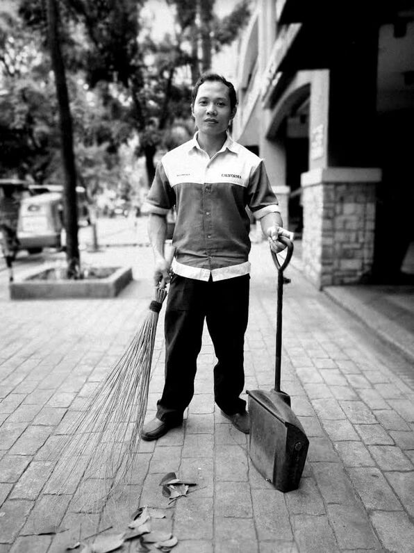 Julius Nable - a housekeeper; Photographed by Larry Piojo