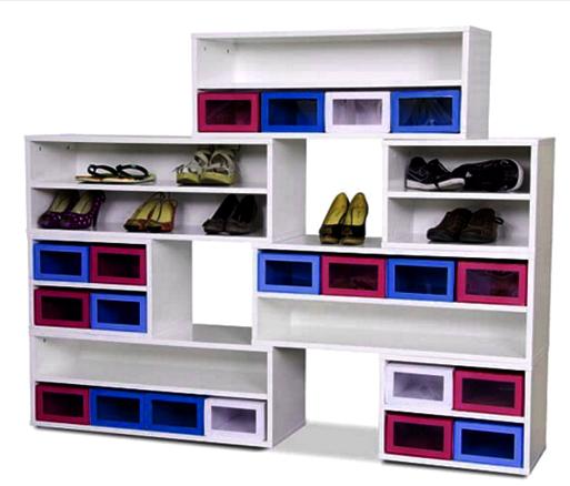 contoh model  rak tempat sepatu minimalis terbaru