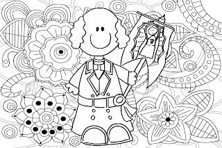 Miguel Hidalgo mandala para colorear