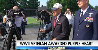 """Humble WW2 Vet Is Finally Awarded His Purple Heart"""