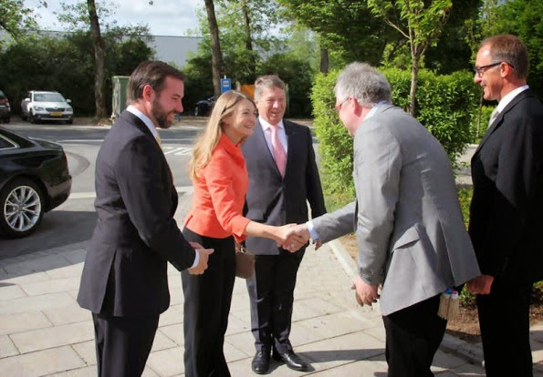 Princess Stephanie And Prince Guillaume Visits Chaux De Contern