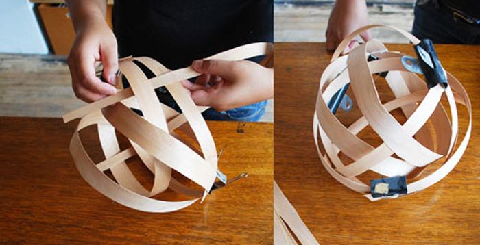 DIY Lampu Rumah Dari Anyaman Kayu - Step 4-5