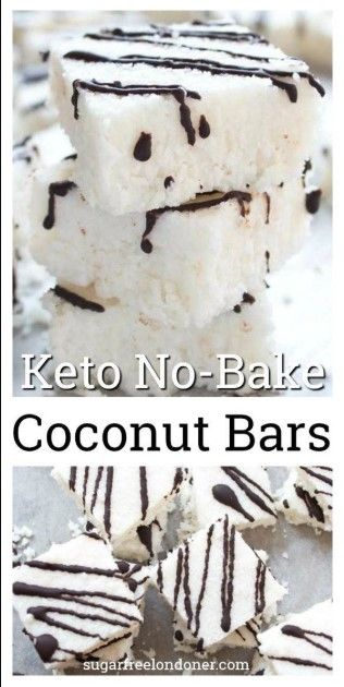 Keto No Bake Coconut Bars Recipe