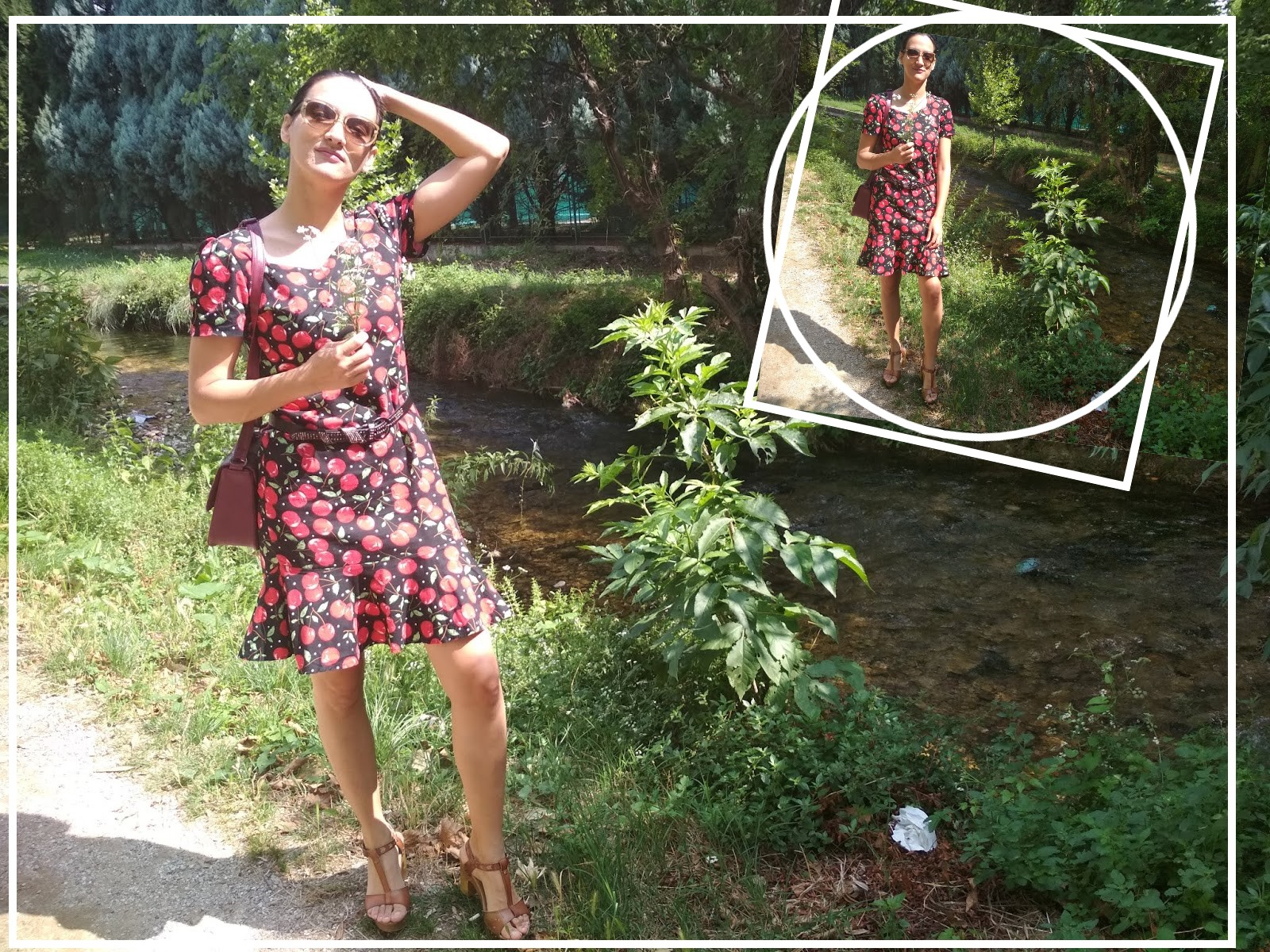 How To Style A Cherry Print Dress?
