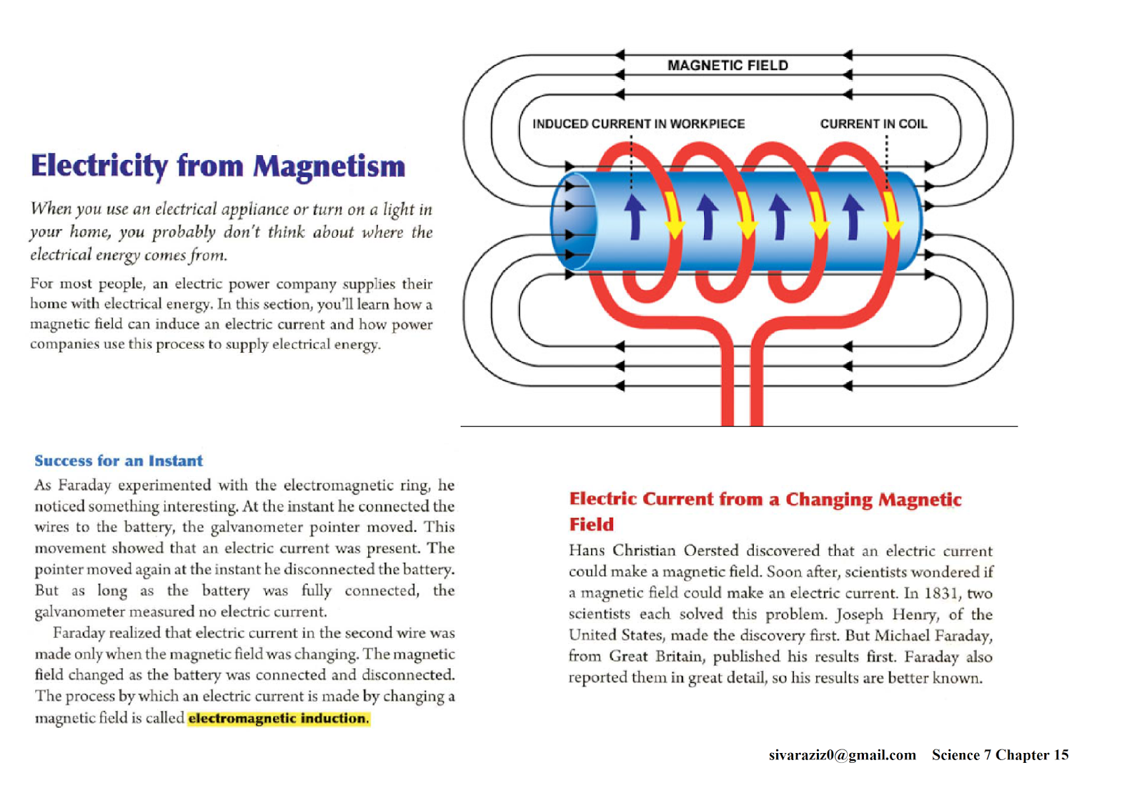 Science 7 Chapter 15 Electromagnetism