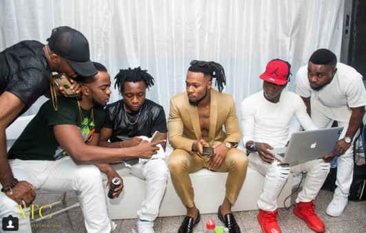 4 Photos: Flavour steps out in suit without a shirt