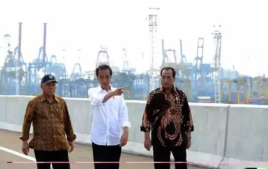 Jokowi tol Tanjung Priok Menhub Men PURR