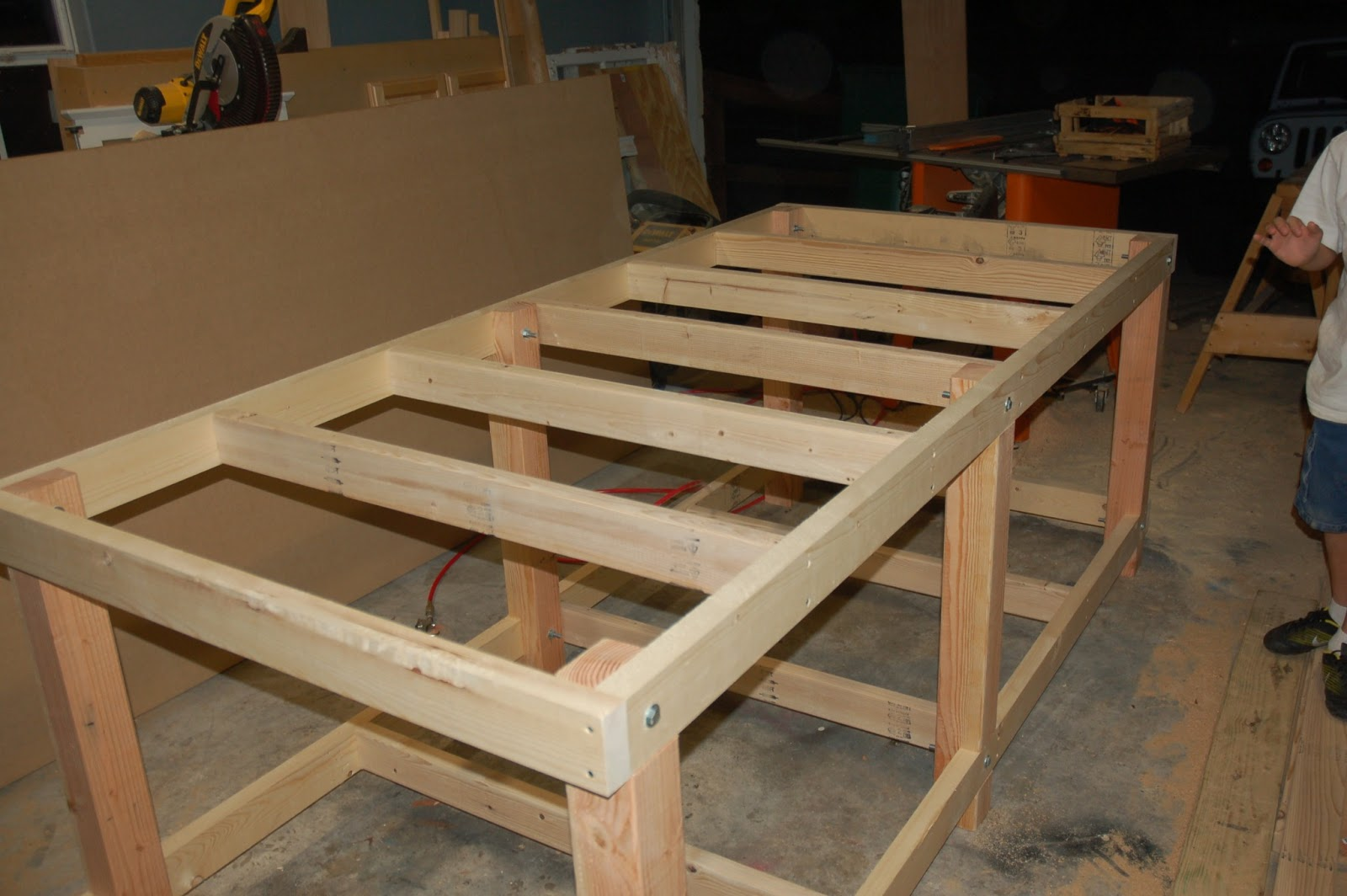 david: easy diy workbench legs wood plans us uk ca