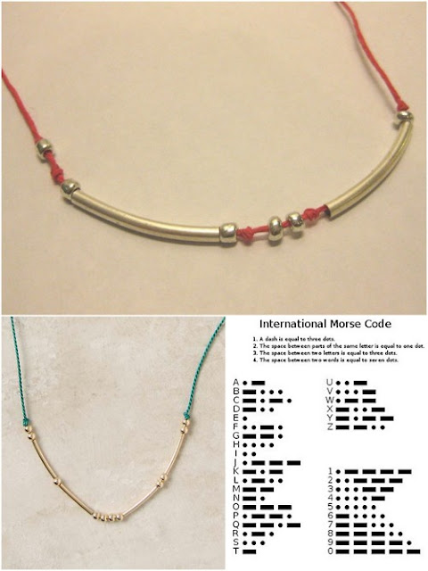 pulseras, joyería, código Morse,proyectos, tutoriales, diys