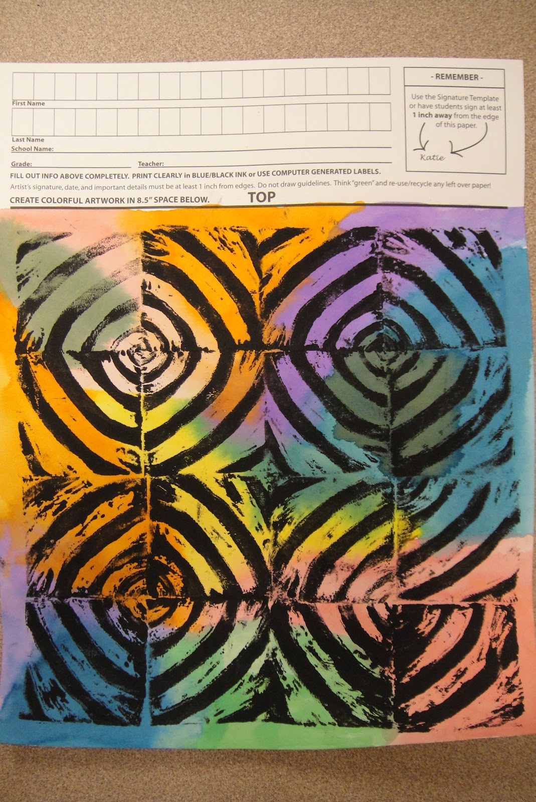 Framed In Swirly Gold Square 1 Art Projects
