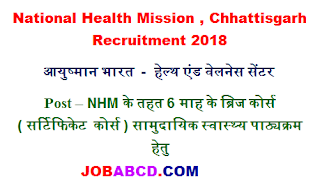cg nhm training course recruitment |  छग में राष्ट्रीय स्वास्थ्य मिशन के अंतर्गत 300 रिक्त पदों पर भर्ती , cg nhm training course exam Syllabus & exam Pattern  , cg nhm training course  , cg nhm training course cutooff list  , cg nhm training course  exam Result