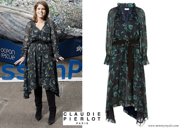 Princess Eugenie wore Claudie Pierlot Romilly floral dress