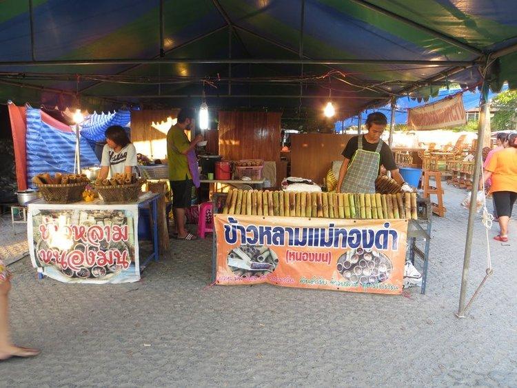 Бамбуковые палки с рисом