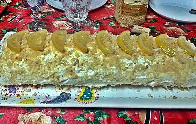 Brazo de gitano de limón y nata
