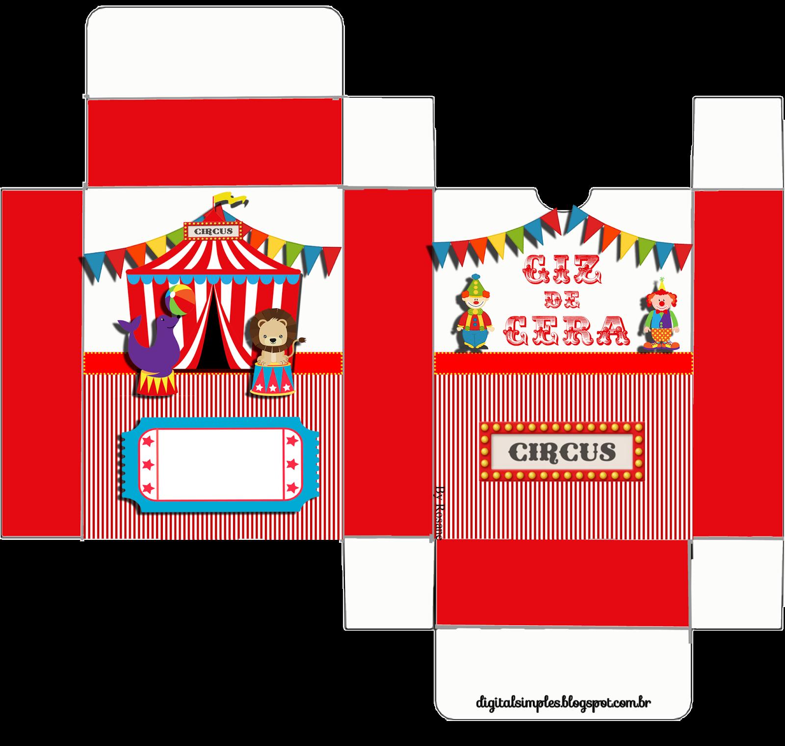 Kit De Personalizados Tema Circo Para Imprimir Convites
