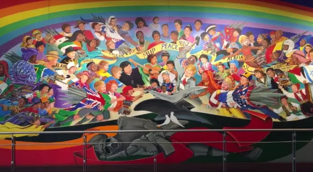 Read my mind what 39 s with the weird murals at denver airport for Denver international airport mural