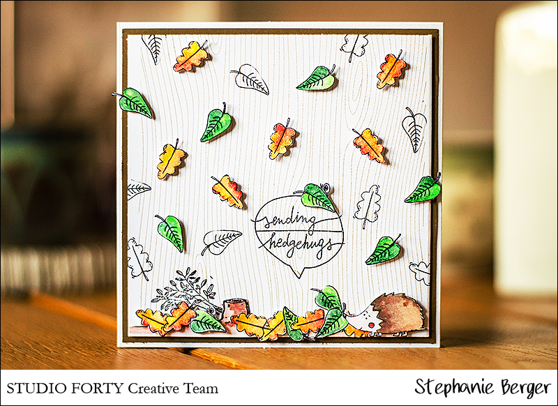 Stephanie Berger - Stamping - Cardmaking - Studio Forty - Whoo loves you