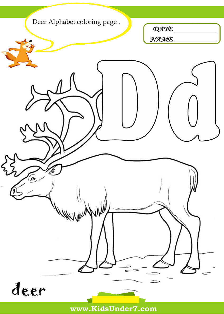 Letter d worksheets and coloring pages