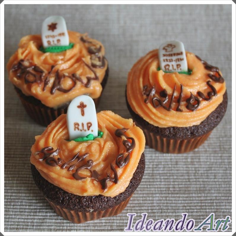 Cupcakes tumbas Halloween