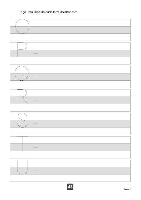 Caderno de Caligrafia