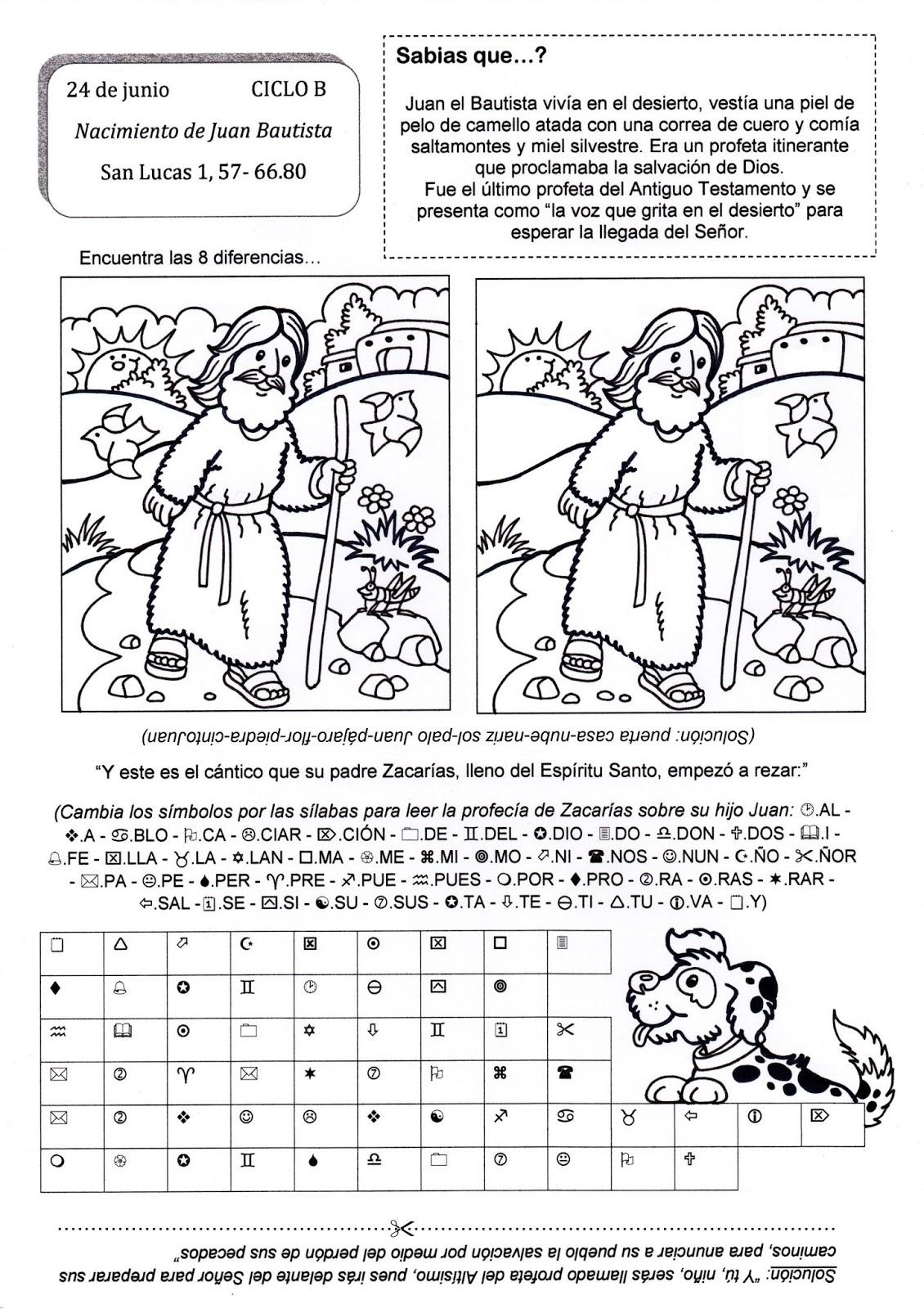 Educar Con Jesus Nacimiento S Juan Bautista Lc 1 57 66