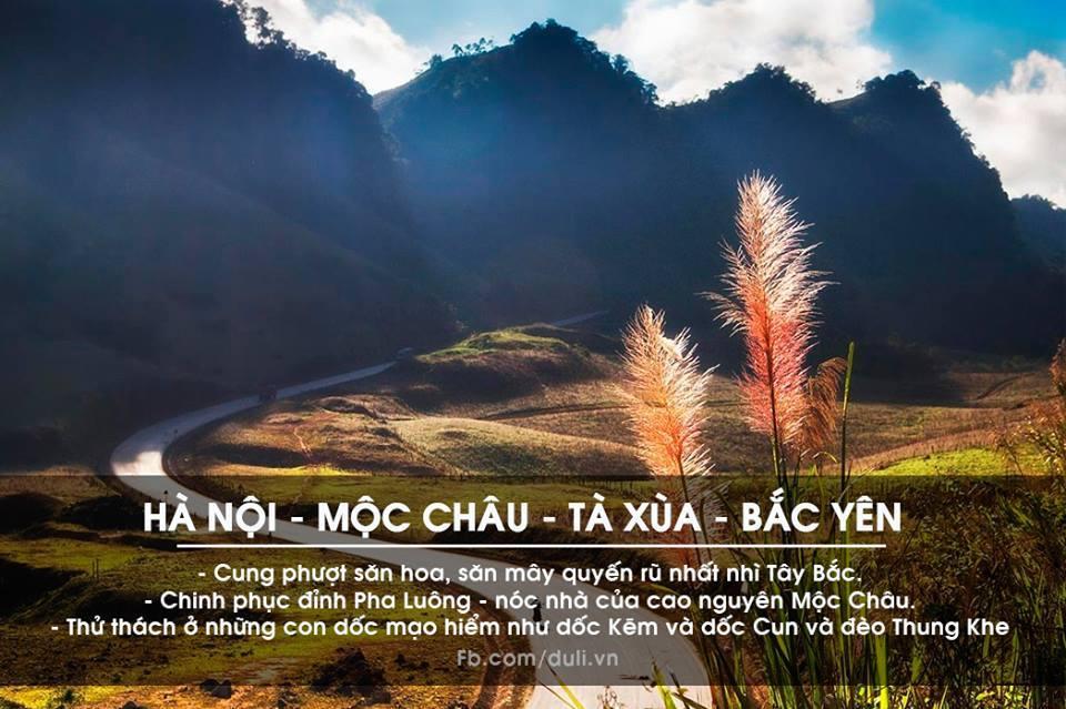 Hà Nội - Mộc Châu - Tà Xùa - Bắc Yên