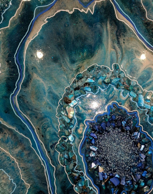 learn about geodes and make geode art to match your home decor tutorial