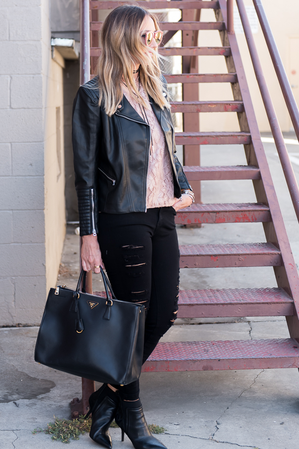 black prada executive tote
