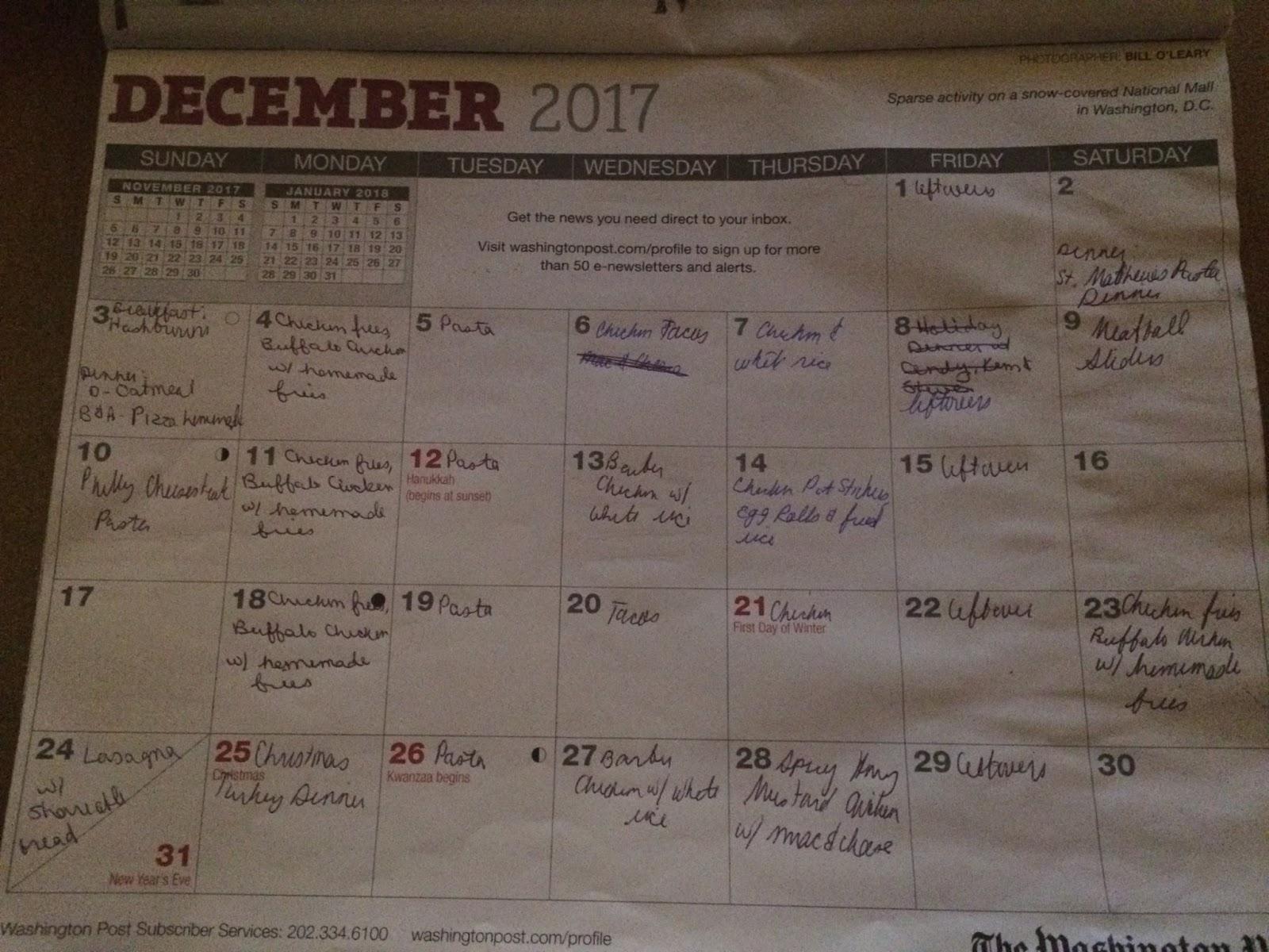 NOVA Frugal Family: December 2017 on