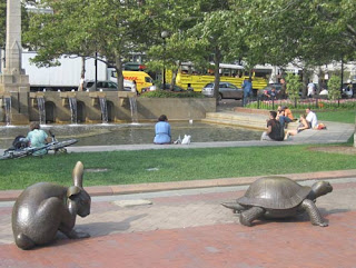 Boston's Tortoise & The Hare Statue.