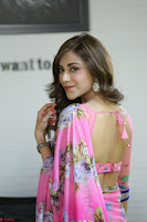 Actress Angela Krislinzki in Pink Saree Blouse Exclusive Pics March 2017 ~  102.JPG
