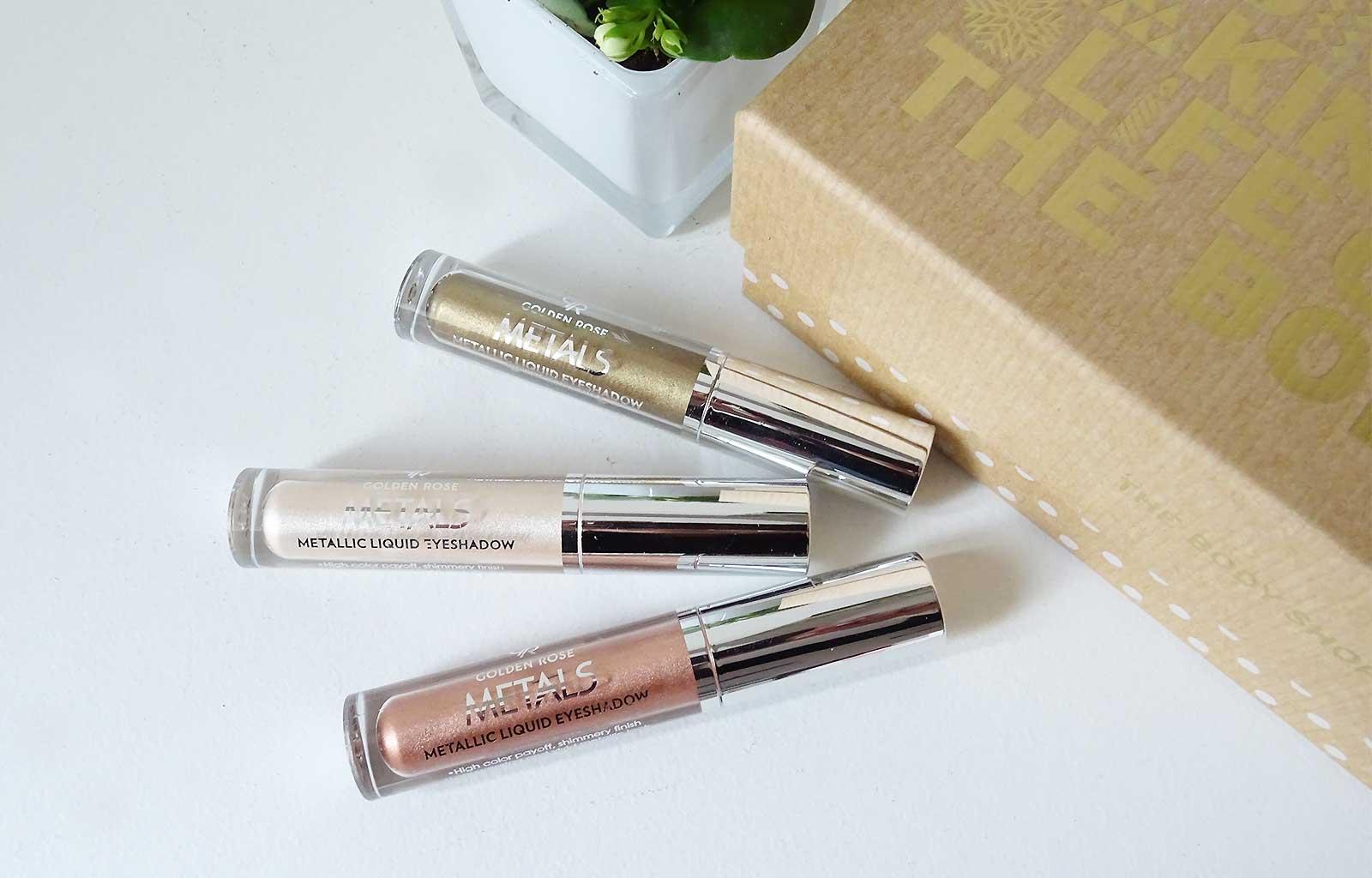 Metals Metallic Liquid Eyeshadow Golden Rose
