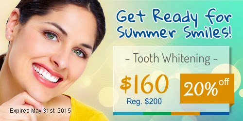 Limited Offer! Improve the look of your Smile before Summer arrives!