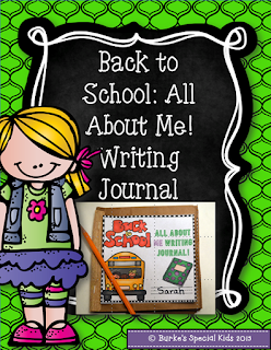 All About Me! Writing Journal